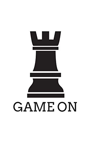 Game On: Funny Game On Chess Piece Rook Sillouette Notebook with Doodle  Diary Book Graphic Humor Gift For Geek Smart Gamers and Players Who Love  Chess