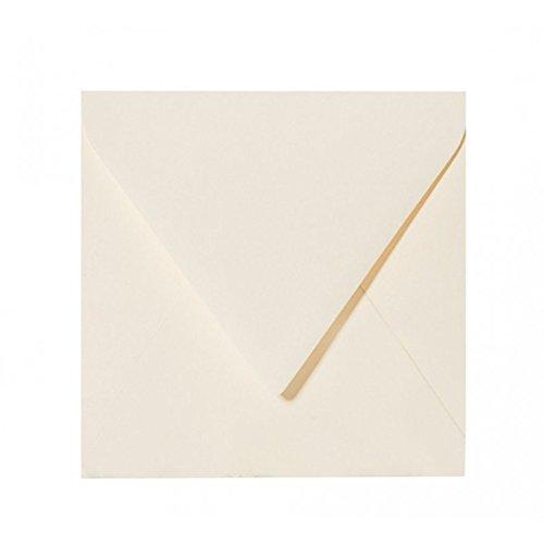 15 Creme (Paper24 50 Quadratische Briefumschläge (120g) Farbe: Zart Creme 150 x 150 mm 15 x 15 cm sehr gute Qualität , mit Dreieckslasche)