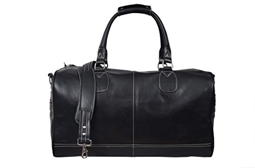 new-duffle-large-weekend-holdall-travel-gym-real-genuine-leather-bag-black-glaze