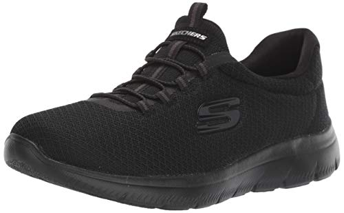 Skechers Women 12980 Low-Top Trainers, Black Black, 7 UK  40 EU