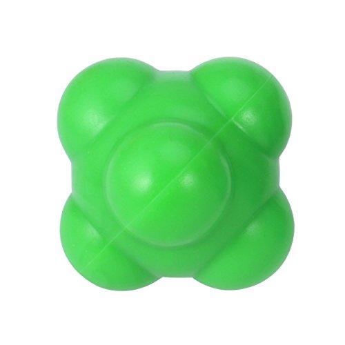 Rosenice Baseball-Reaktionsball für Agilität, 58 mm, zur Entwicklung einer außergewöhnlichen Hand-Augen-Koordination, Gelb -