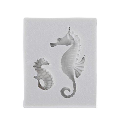 Kimyu Kreativer Seepferdchen-Silikon-Form-Fondant-Schokoladen-Kuchen, der Werkzeuge Verziert