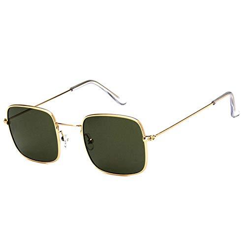 Drawihi Retro kleine quadratische Sonnebrille Polarisierte Sonnenbrillen Gradient Sportbrille UV400 Schutz Unisex für Reise Sport im Freien(Grün)