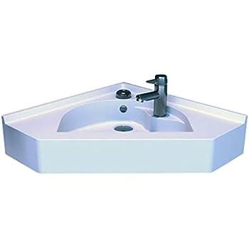 Vasque d'angle suspendu blanc 50x50 cm BELISAIRE