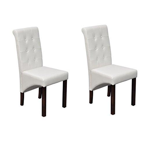 Vidaxl 2x sedie da ufficio in similpelle bianco ergonomiche classiche poltrone