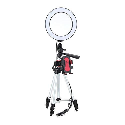 leegoal Selfie Ring Light, 7.9'' Dimmable Ring Light Selfie avec Support De Trépied Rétractable 35cm-100cm Et Support De Téléphone Portable pour Flux en Direct/Maquillage/Camera Video Youtube