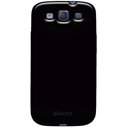 Amzer AMZ93964 Gel TPU Gloss Skin Case for Samsung Galaxy S III GT-I9300 (Black)  available at amazon for Rs.319