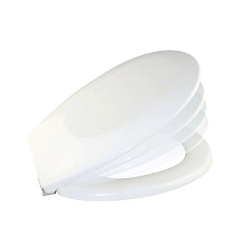 Carpemodo WC Sitz Toilettendeckel WC Deckel Duroplast mit Absenkautomatik Weiß