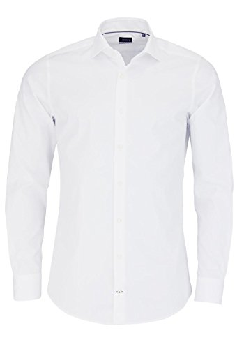 Joop! Herren Business Hemd Panko - Slim Fit, Größe:38;Farbe:Weiß (100)