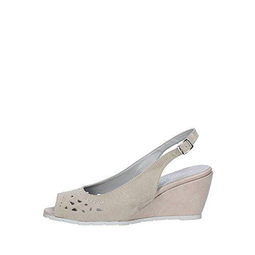 Cinzia Soft 021162 Sandalo Donna Camoscio BEIGE BEIGE 40