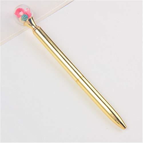 6 Metallkugelschreiber, Kappen und Perlen, spezielle Schreibgeräte 14.3X1.0CM (1.0MM) -