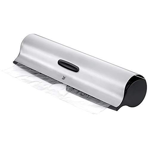 WMF Gourmet Folienschneider, mit gezahntem Metaldeckel 32 cm, Cromargan Edelstahl poliert, geeignet für Frischhalte-, Alufolie oder Back- Butterbrotpapier ab
