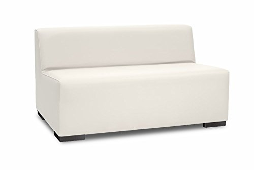 SuenosZzz-Sofa exterior modular Benahavis 2 Plazas color blanco tapizado en polipiel Silva. Chill Out jardin o recepcion.