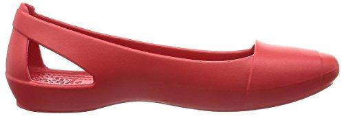 Crocs Crocs Sienna Flat, Ballerines femme Rouge (Flame)
