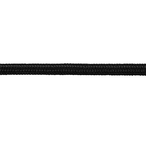 5M 2 Core Class II (Double Insulated) Ceiling Lighting Braided Cable Flex - Black