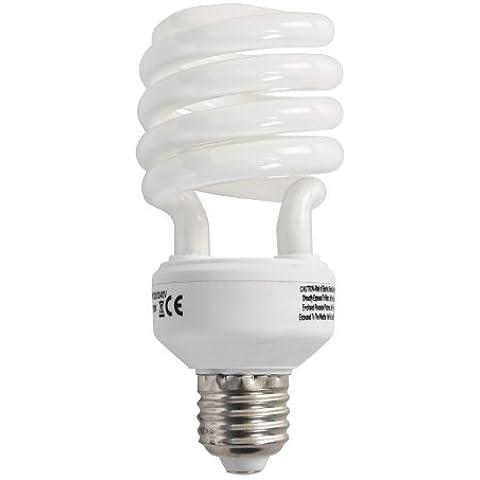MiniSun-Lampadario da soffitto/Lampada da terra, alta qualità, colore: bianco caldo, 20w ES E27-Lampadina a spirale, a risparmio energetico