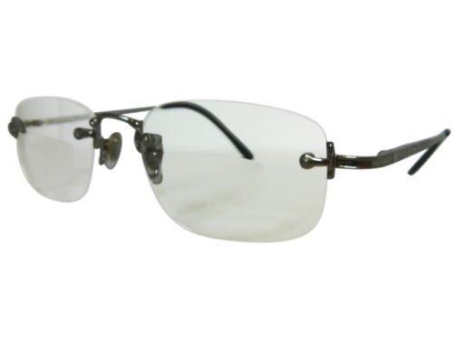 Rimless occhiali da lettura in metallo colorato
