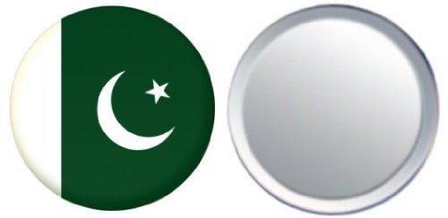 Miroir insigne de bouton Pakistan drapeau - 58mm
