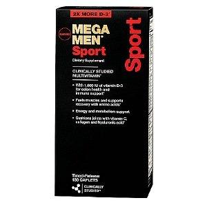 GNC Men's Mega Men Sport Multivitamin, Timed Release Caplets 180