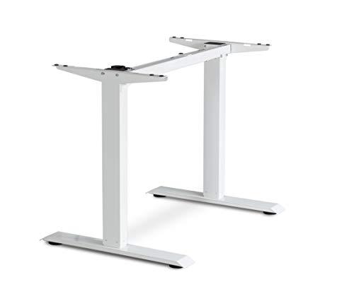 eSmart Germany ES1.1 Weiß Ergonomisches Steh-Sitz-Schreib-Tisch-Gestell Stufenlos elektrisch...