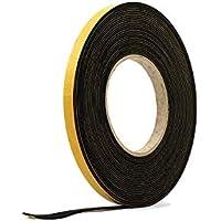 Tira de esponja autoadhesiva negra de goma de neopreno de 1,5 mm de grosor x 10 m de largo