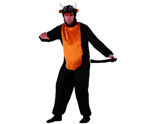 Stier-Kostüm für Herren - - Hörner Kostüm Stier