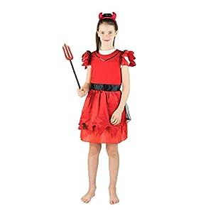 Bodysocks® Disfraz de Diablo de niña (7-10 años)