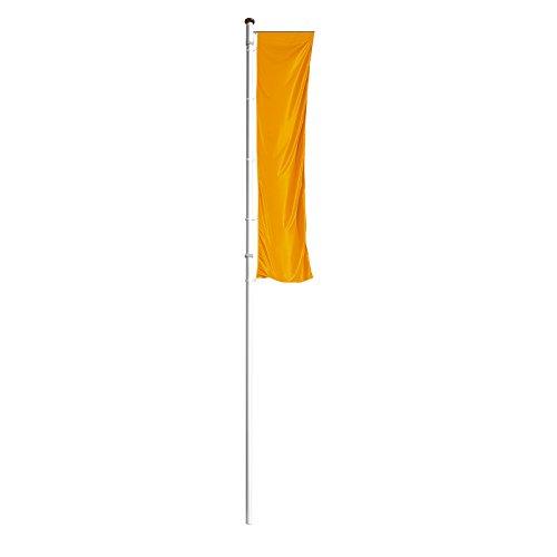 MANNUS Fahnenmast aus eloxiertem Aluminium - mit Spezialkurbel, Ø 100 mm, mit drehbarem Ausleger - Höhe über Flur 10 m - Fahne Fahnen Fahnenmast Fahnenstange Flagge Flaggen Flaggenmast Flaggenmasten