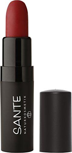 Sante Cosmetici naturali Lipstick Mat Matt Rossetto Opaco, effetto opaco, Intenso farbpigmen tierung (5G)
