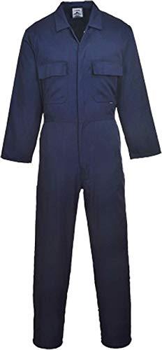 Portwest Clothing Ltd Portwest S999NARXS Euro Work Schutzanzug Baumwoll-Polyester-Mischgewebe, Standardgröße: XS: Marineblau