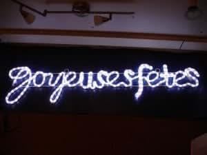 "Enseigne Lumineuse LED ""Joyeuses Fêtes"" 120x28cm"