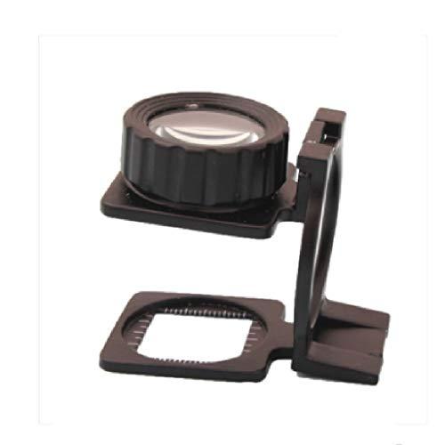 Metall HD 10-fach faltender Inspektionsstoff Desktop-Vergrößerungsglas 20-fache Nichtbeleuchtungslegierungs-Foto-Tuch-Spiegel Hohe Vergrößerungs-Inspektions-Textilinspektionsstoff-tragbare Handyrepara