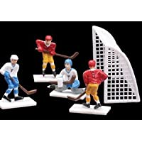 Cakesupplyshop 8 Piece Hockey Players & Goals Set Cake Topper Decoration by Cakesupplyshop
