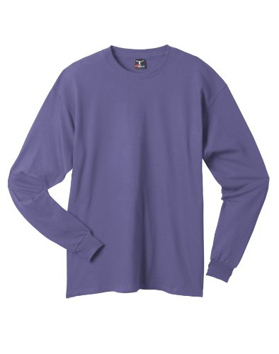 Hanes 6.1 OZ. Long-Sleeve Beefy-T (5186) Purple