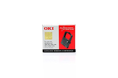 Preisvergleich Produktbild OKI Farbband 09002309, für ML-380 / 385 / 390 / 391 / 3390 / 3391, Nylon schwarz