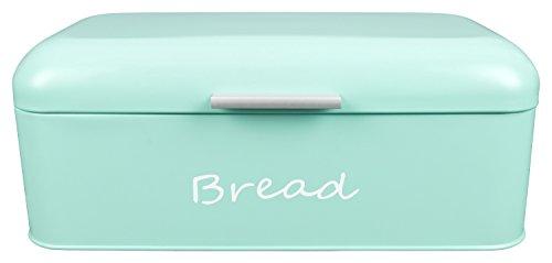 GranRosi Brotkasten - geräumige Metall Brotbox im klassischen 40er Jahre Stil