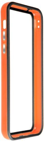Horny Protectors iP5c-4012c TPU Silikon Schutzhülle für Apple iPhone 5c (nicht 5S) transparent/gelb Orange Schwarz chrome