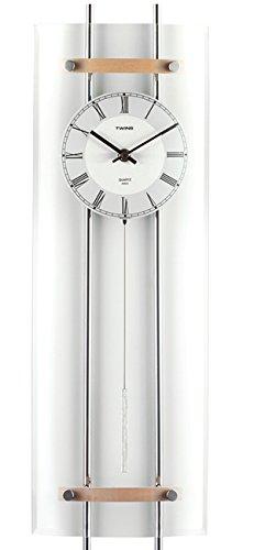 Krippl-Watches Pendeluhr Glas, mit Quarz-Uhrwerk (Pendeluhren)