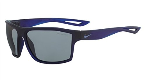 Nike Golf Legend Sunglasses, Matte Crystal Obsidian/Ocean Fog Frame, Grey with Silver Flash Lens image