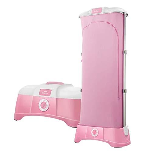 Asciugabiancheria in acciaio inox asciugatura rapida portatile pieghevole mute armadio macchina stendipanni 1200w carico massimo 00kg essiccatore da viaggio piccolo (colore : pink)