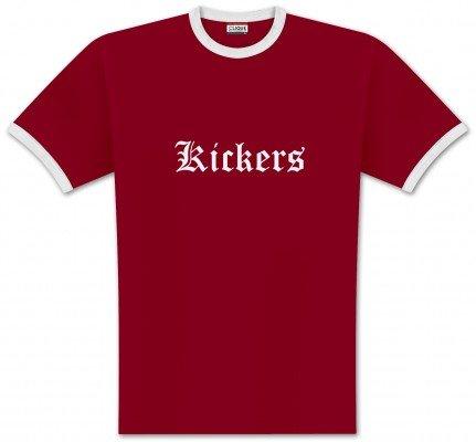 World of Football Ringer T-Shirt old Kickers ro. - XL