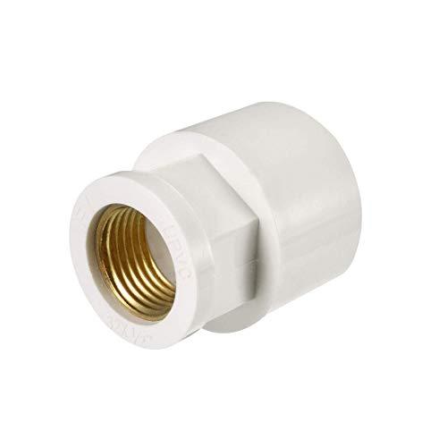 ZCHXD 32mm Slip x 1/2 PT Female Brass Thread PVC Pipe Fitting Adapter -