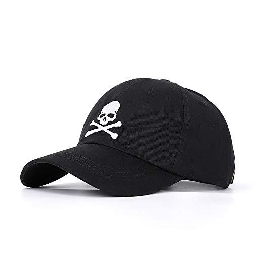 Imagen de wxtreme moda fresca calavera malla  de béisbol hombres mujeres hueso negro camionero  papá sombrero adulto verano hip hop sombrero ajustable lavado algodón sombreros sombreros sombrilla al a