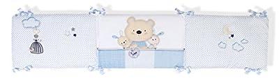Funda Nórdica con relleno + protector + almohada MAXICUNA 70x140- Osito Azul - INTERBABY