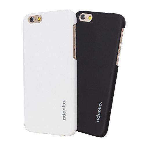 iPhone 6 Plus Schutz-Hülle (5.5 Zoll)   Extrem dünnes Polycarbonat Case für Apple iPhone 6+  Original Adento Smartphone Design   Slim & Leicht   Einfarbig Schwarz schwarz