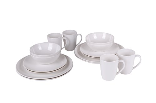Bo Garden Lot De 16 Service De Table Blanc
