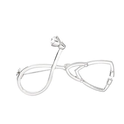 Nikgic Silber Persönlichkeit Arzt Stethoskop Brosche Hochwertige Legierung Mode Brosche Geschenk Anhänger Zubehör