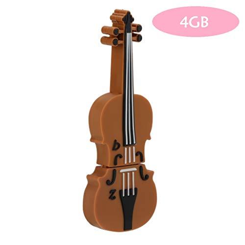 Samlike flash drive - chiavetta usb a forma di violino per pc/laptop e altri dispositivi usb, 256m/4gb/8gb/16gb/32gb/64gb marrone marrone 4 gb