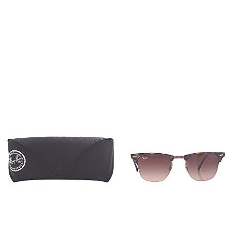 Ray Ban Unisex Sonnenbrille Clubmaster Light Ray, Gr. Medium (Herstellergröße: 49), Mehrfarbig (Gestell: Havana/Braun, Gläser: Braun Verlauf 155/13)