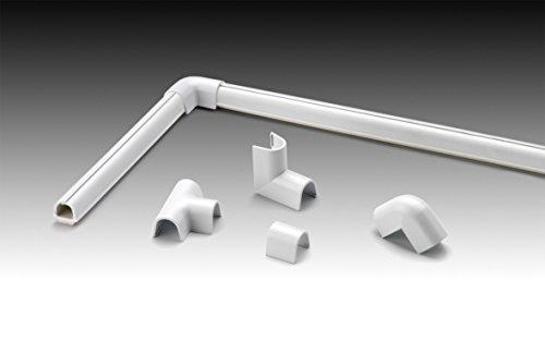 Cablefix Inofix Verbindungen Eck-und T-Stücke für 2202 Kanal, 1 Stück, weiß, 3220-2-